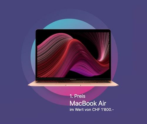 MacBook Air im Wert von CHF 1'800 gewinnen